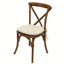 Chair - Crossback with Pad - Natural - 01