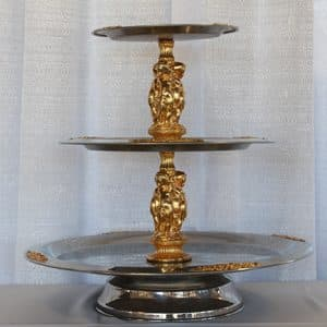 Serving Tray - 3 Tier - Gold - 02