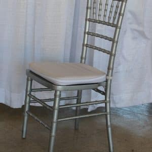 Chair - Chavari / Ballroom with White Pad - Silver - 02