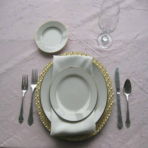 Place Setting - China - Ivory and Gold - 02